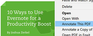how to use evernote to annotate pdfs