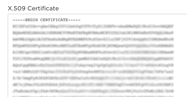 Single sign-on certificate