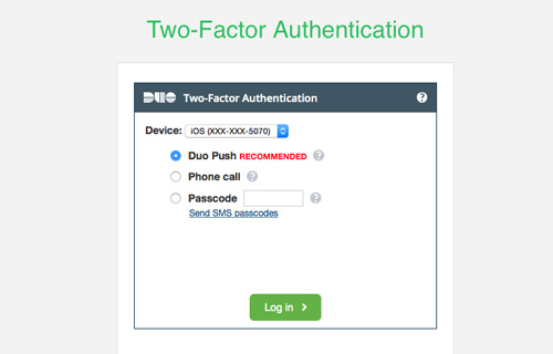 Two-factor verification