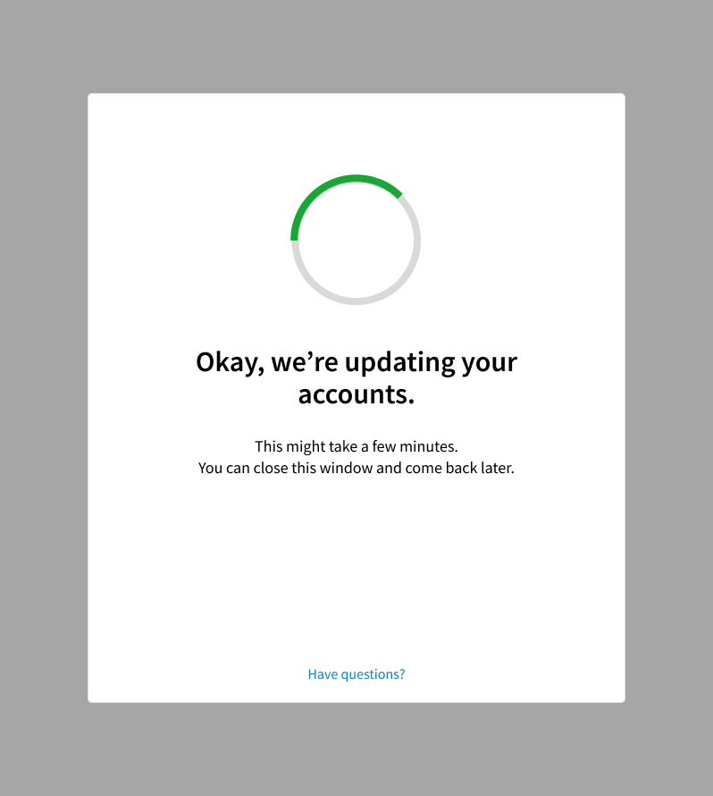 Evernote Business account update updating screen