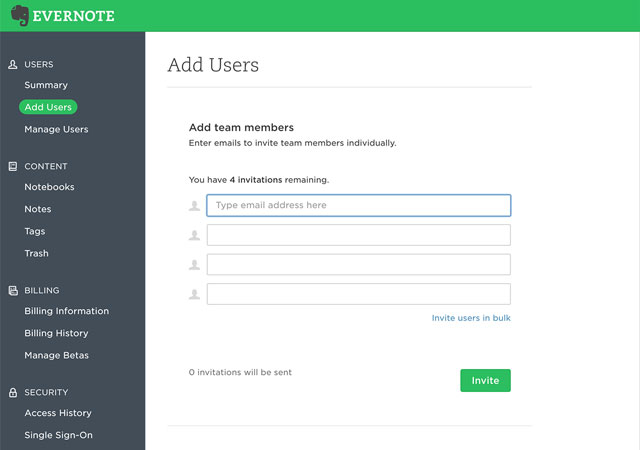 管理控制台添加新用户页面
