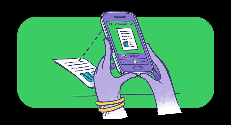 Använda mobilen som skanner
