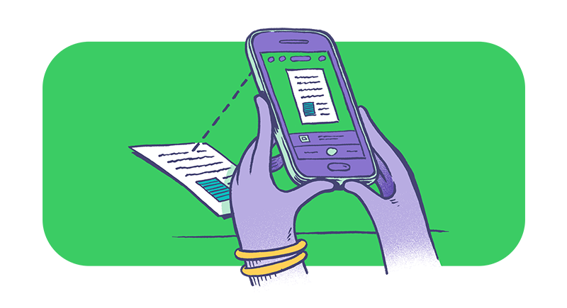 Verwendung des Smartphones als Scanner