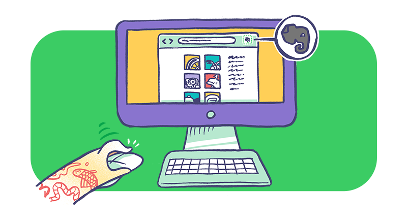 Salva pagine web dal tuo browser in Evernote