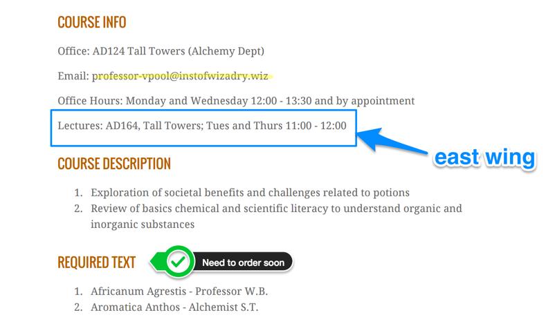 Exempel på anteckning med förhandsgranskning av bifogad PDF-fil med kursplan