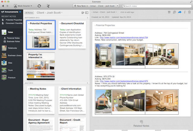 How to: Evernote Business for real estate