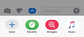 iMessage アプリドロワー
