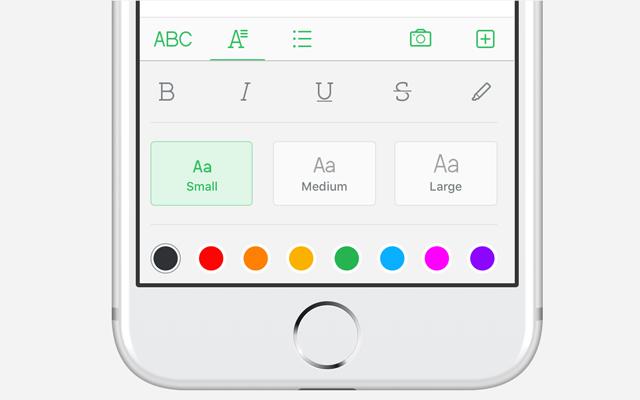 Textfarbe und -größe ändern