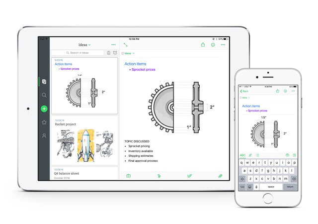 Evernote 8.0 pour iPhone, iPad et iPod touch