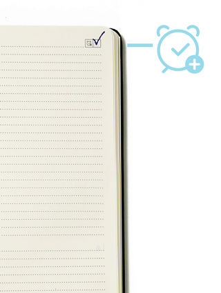 Moleskine reminder checkbox