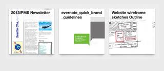 Alla anteckningar i projektanteckningsboken med bifogade PDF-filer