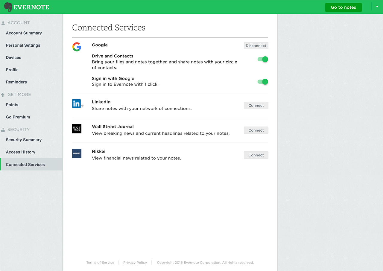 How to disconnect the connected services