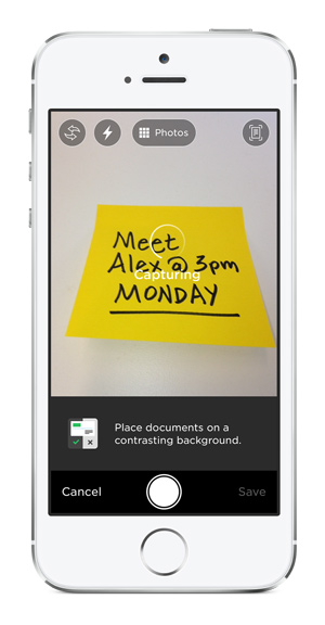 Appareil photo Post-it(r) Note sur iPhone