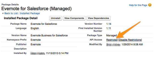 Salesforce installed packages