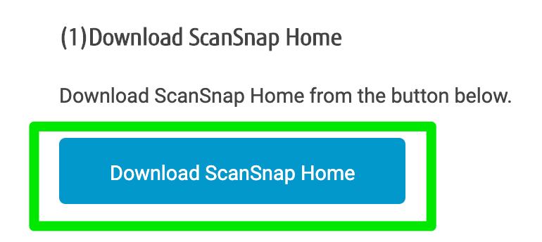 """Botón """"Descargar"""" de ScanSnap"""