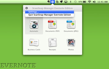 ScanSnap Evernote Manager