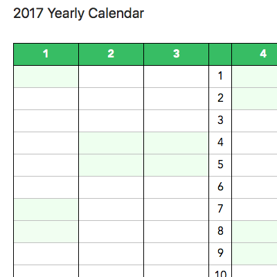 2017 calendar templates – Evernote Help & Learning