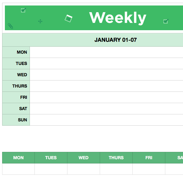 evernote daily planner template - weekly calendar template 2018 images template design ideas