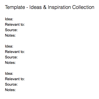 Ideas & Inspiration Collection