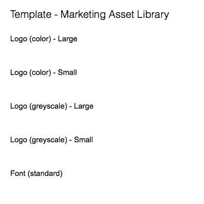 Marketing Asset Library