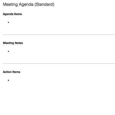 Meeting Agenda (Standard)  Meeting Note Taking Template