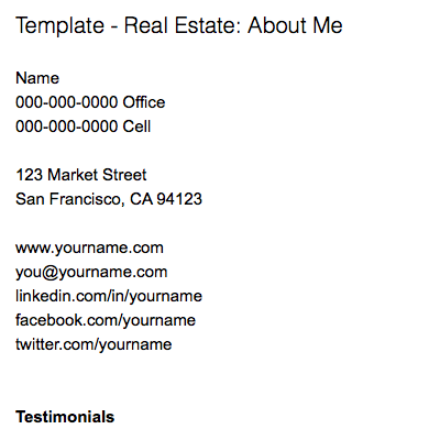 Note templates for real estate – Evernote Help & Learning