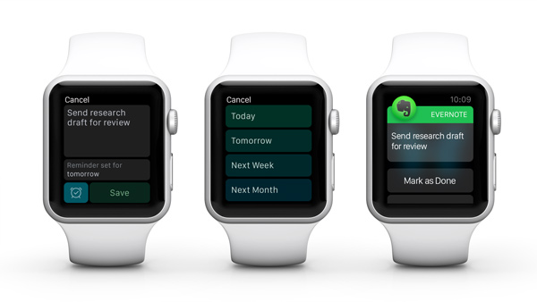 Recordatorios de Apple Watch