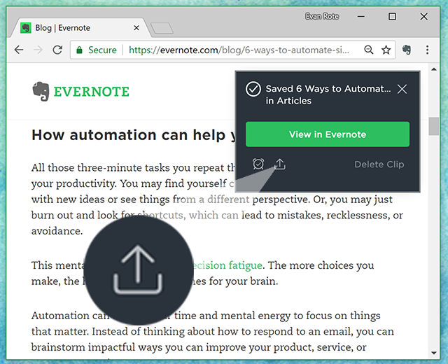 Evernote Web Clipper Quick Start Guide – Evernote Help